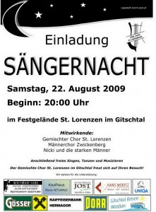 Sängernacht 2009 Plakatx  1