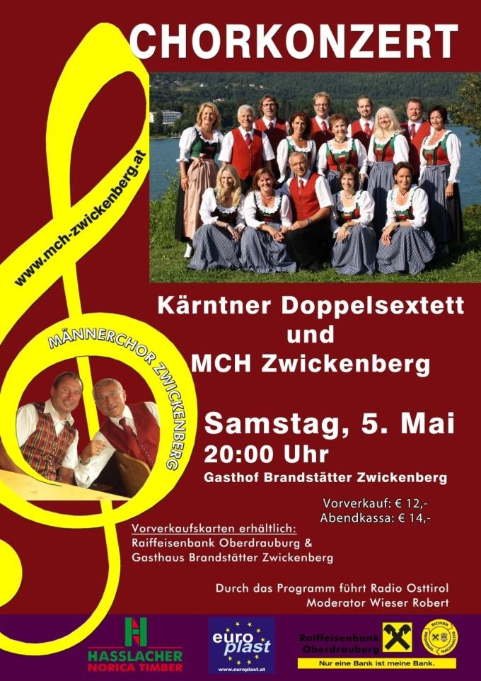 Chorkonzert Ktn. Doppelsextett und MCH-Zwickenberg
