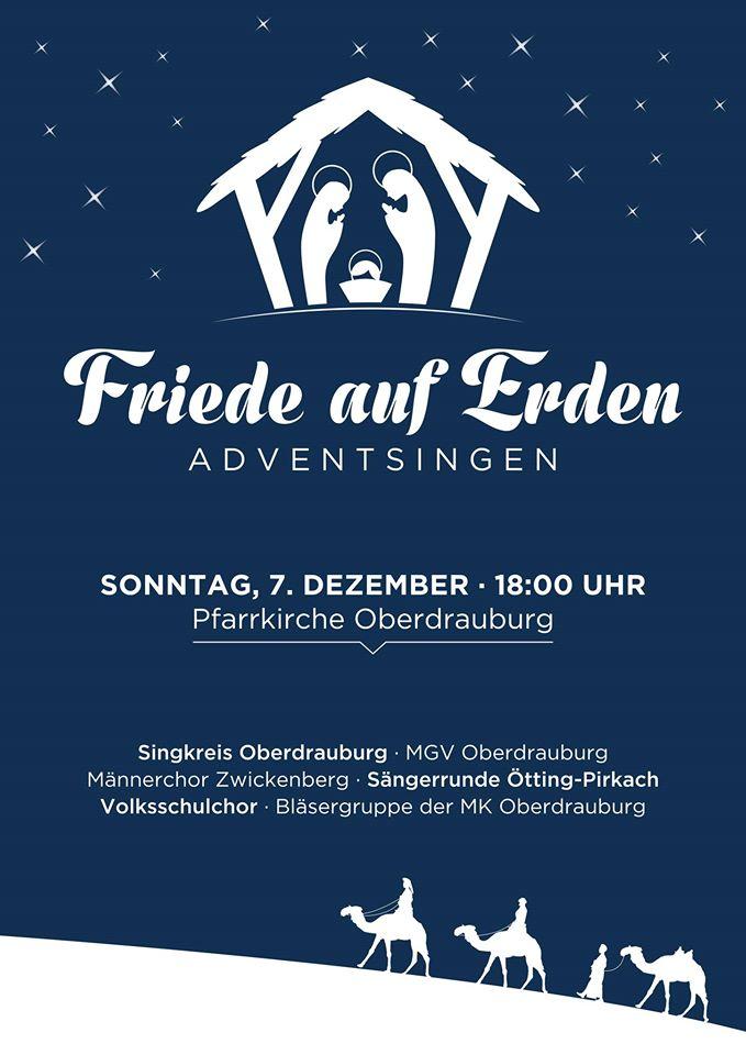 Plakat Adventsingen Oberdrauburg